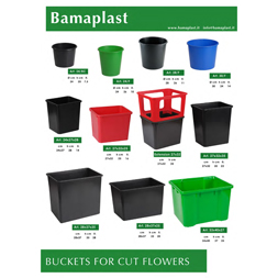 Brochure buckets for cut flowers